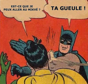 meme Batman Robin mikvé Jewpop