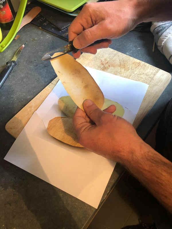 Découpage pommes de terre Jewpop