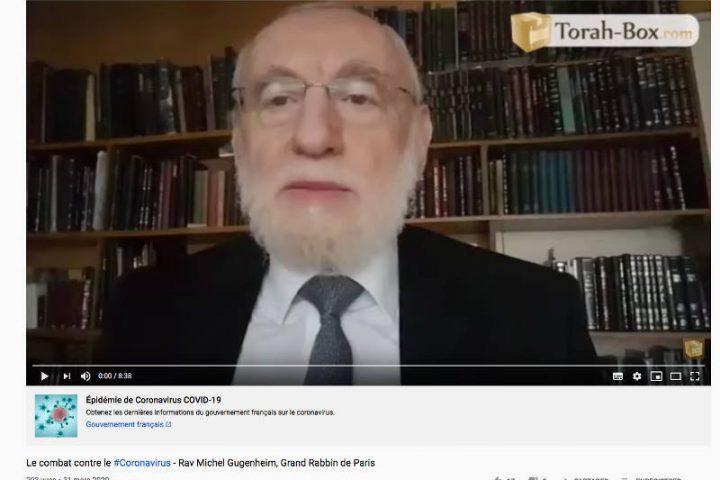 Message du grand rabbin de Paris Jewpop