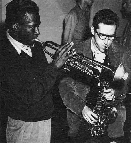 Photo de Miles davis et Lee Konitz Jewpop