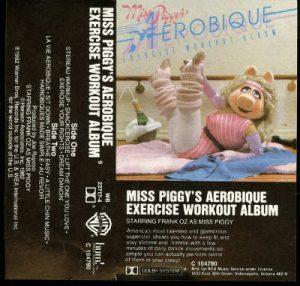 Pochette de la K7 audio Miss Piggy Aerobique Jewpop