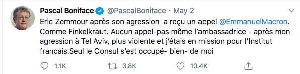 Tweet de Pascal Boniface Jewpop