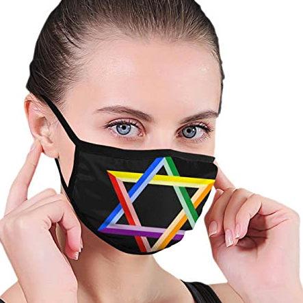 Masque avec étoile de David Jewpop