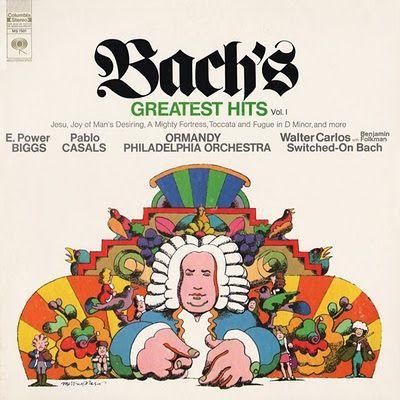 Pochette disque Bach Milton Glaser