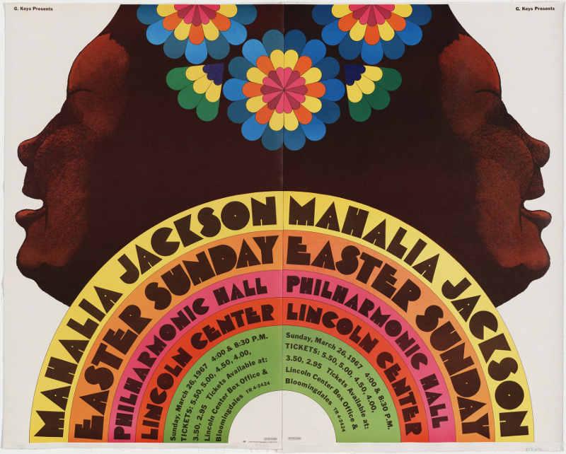 Affiche concert Mahalia Jackson Glaser Jewpop