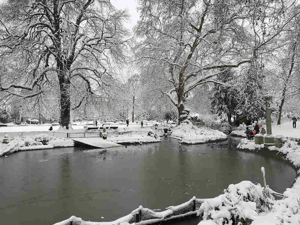 Parc Monceau sous la neige Jewpop