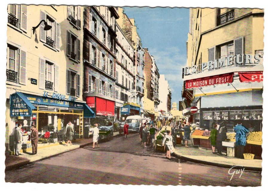 Carte postale de la rue de Lévis Jewpop