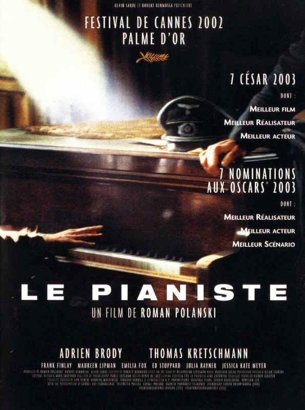 Affiche du film Le Pianiste de Roman Polanski