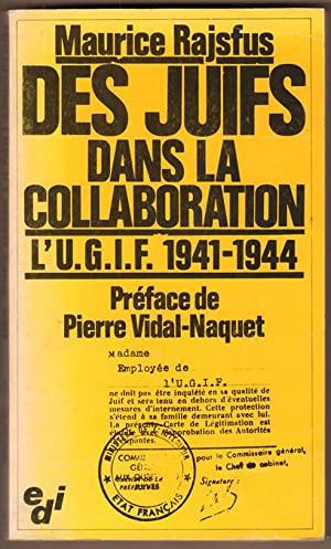 Livre Maurice Rajsfus Juifs dans la Collaboration Jewpop