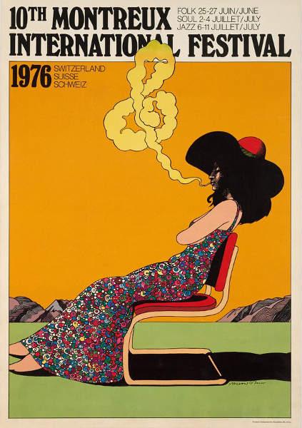 Affiche festival jazz Montreux Milton Glaser Jewpop