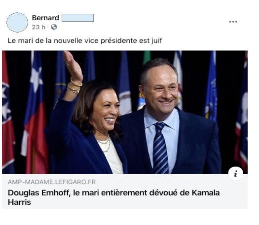 Post FB présidentielle américaine Jewpop