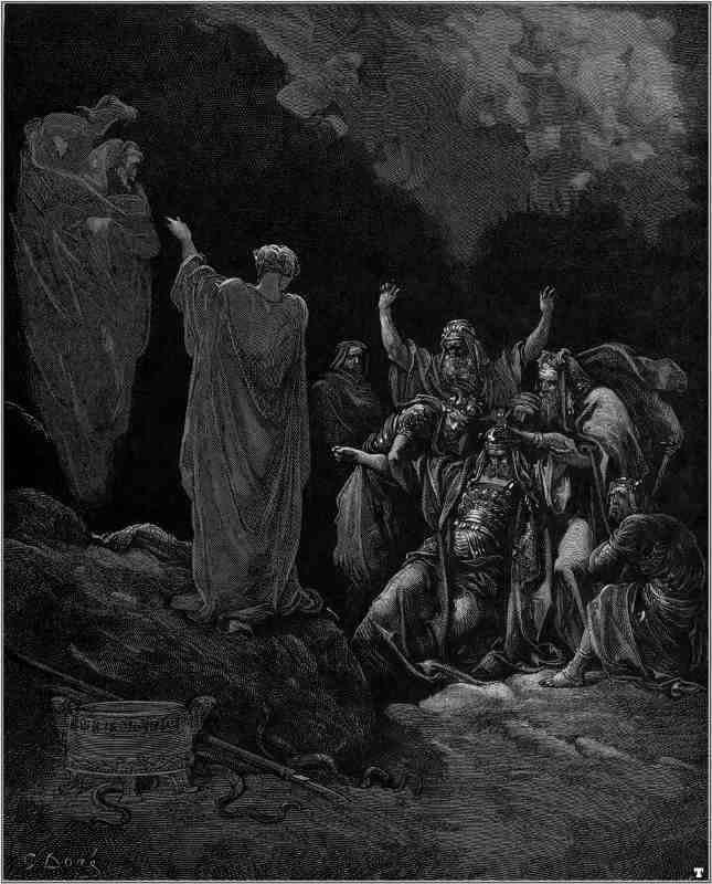 Gustave Doré Saul et la sorcière sorcellerie Jewpop