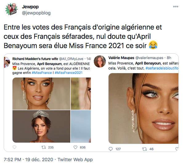 Miss France Twitter Jewpop