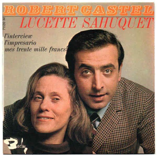 Pochette de sique Robert Castel Lucette Sahuquet jewpop