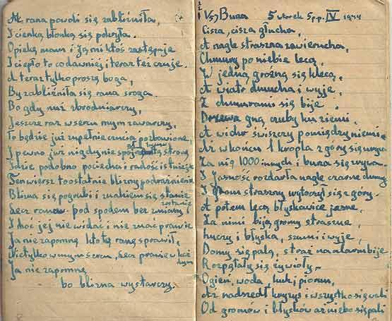 Poème d'Uri Orlev écrit à Bergen Belsen
